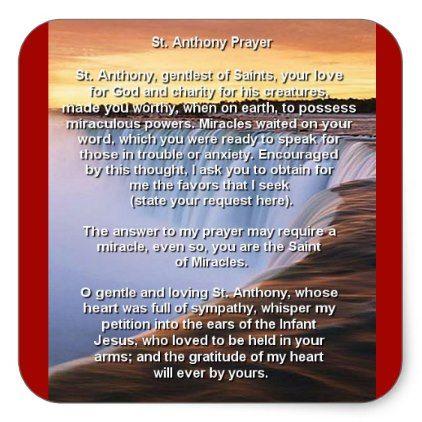 st anthony s prayer n square sticker xmas christmaseve christmas eve