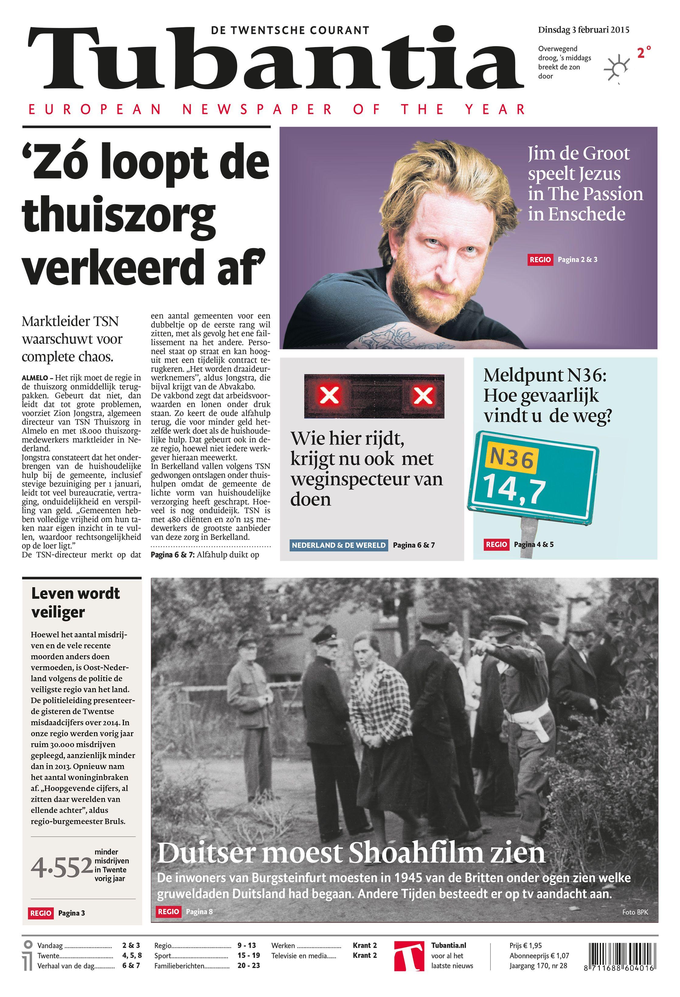 Afbeeldingsresultaat voor de twentsche courant nederland cover