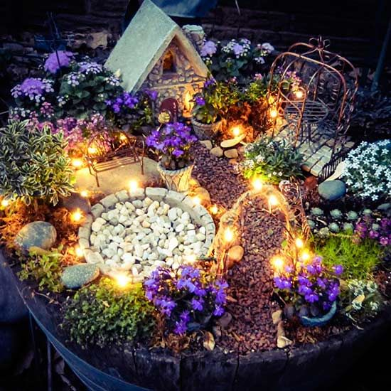 12 Fabulous Fairy Gardens Minus The Fairies Fairy Garden Fairy Garden Diy Miniature Fairy Gardens