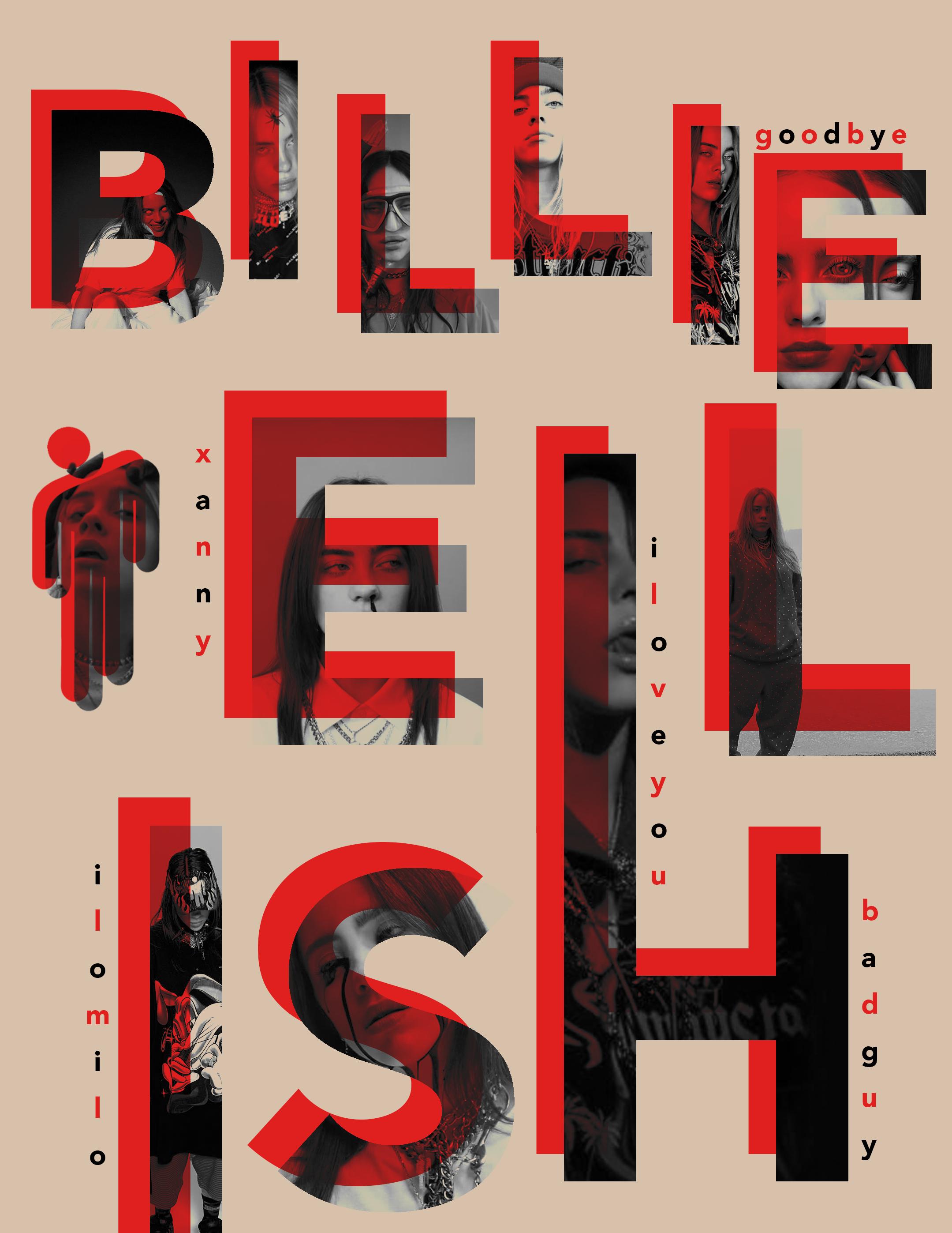 Billieeilish Whenweallfallasleepwheredowego Billie Eilish Typography Billie Eilish Billie Typography