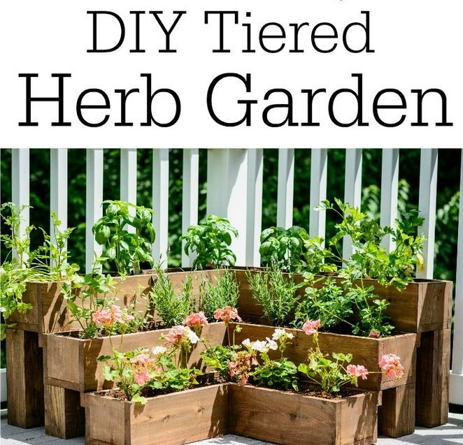 Easy Homesteading DIY Tiered Herb Garden Tutorial Diy
