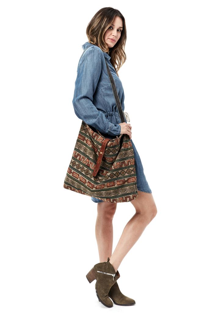 32ea1d5b2701 Pasha Crossbody Tote - LOVESTITCH  lovestitch  boho  tribal  earthy   patterned  tapestry  crossbody  bag  tote