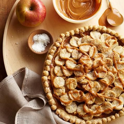 Salted Caramel Apple Pie: You'll never make ordinary apple pie again! | 9 decadent pies for fall | Living the Country Life | http://www.livingthecountrylife.com/country-life/food/9-decadent-pies-fall/