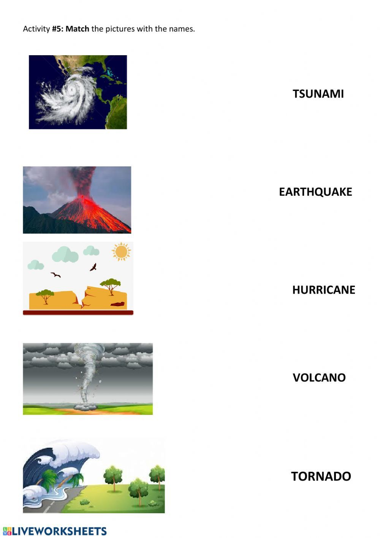 Natural Disasters Interactive Worksheet Natural Disasters English Vocabulary Words English Vocabulary [ 1413 x 1000 Pixel ]