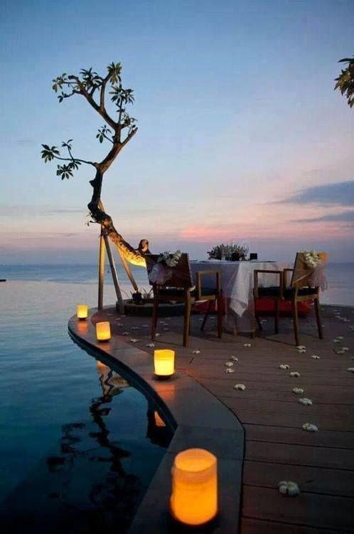 Cena Romántica Eventos Privados Lago Playa Embarcadero