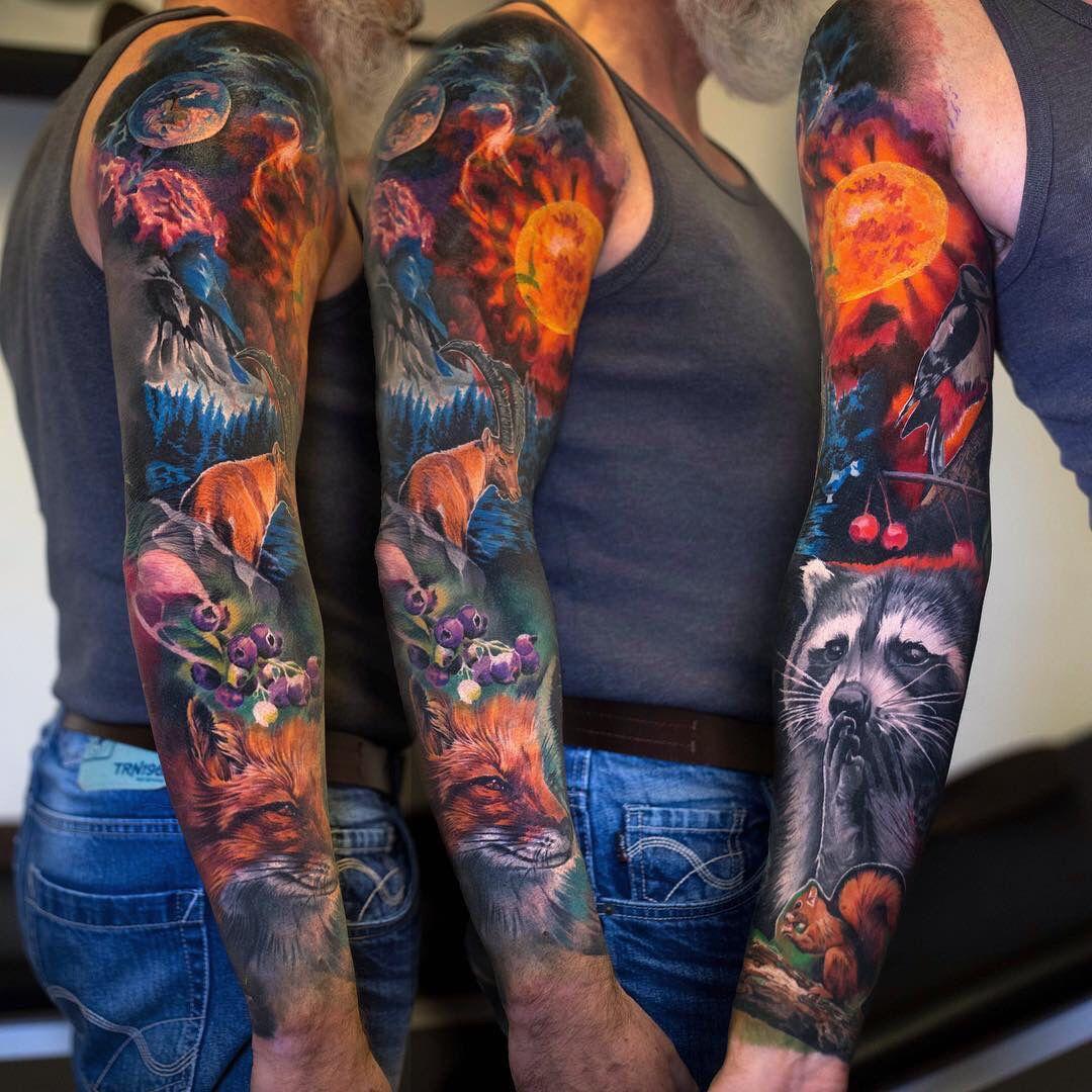 Nature Sleeve Full Sleeve Tattoos Full Sleeve Tattoo Design Tattoos