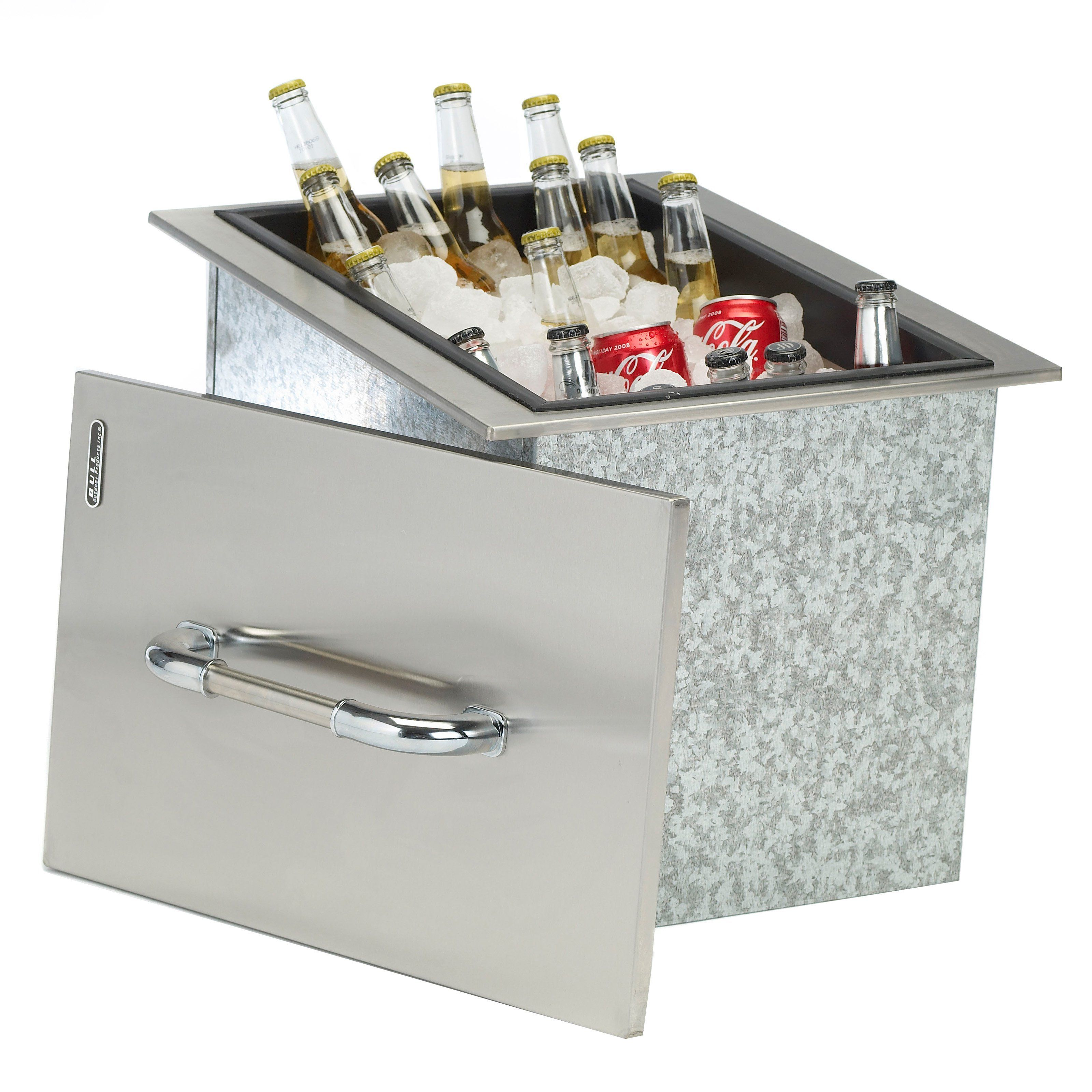 Bull Stainless Steel Built In Ice Chest Www Hayneedle Com Outdoor Kitchen Design Outdoor Kitchen Ice Chest