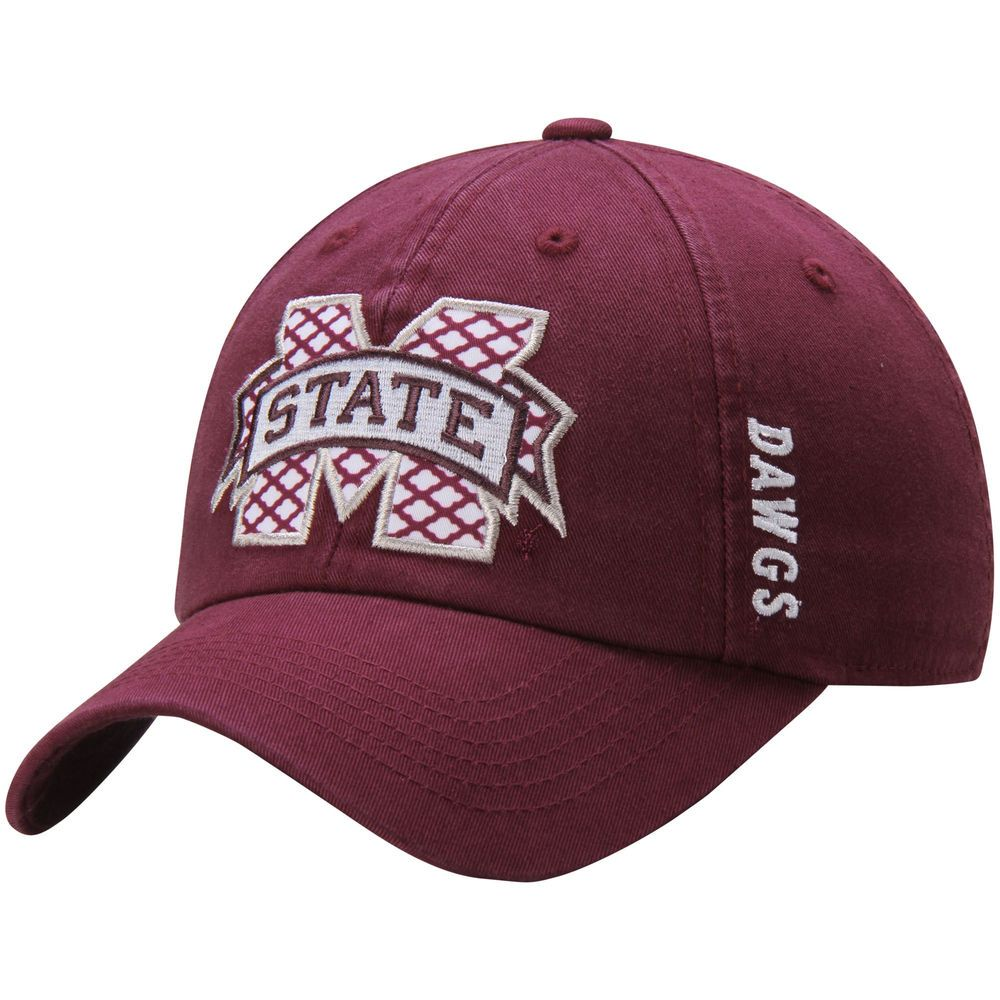 6e17de812b4 Women s Top of the World Maroon Mississippi State Bulldogs Quadra Adjustable  Hat