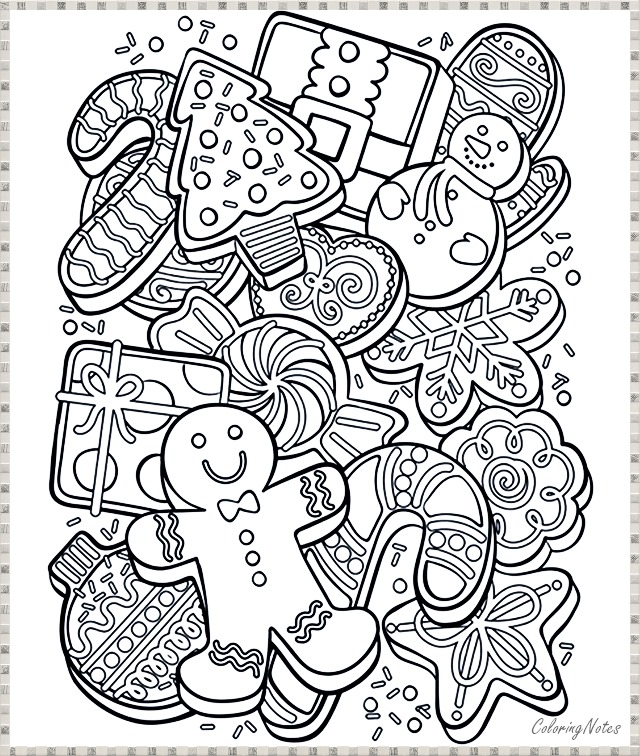 Free Christmas Cookies Coloring Pages Funny And Easy Christmas Coloring Sheets Printable Christmas Coloring Pages Free Christmas Coloring Pages