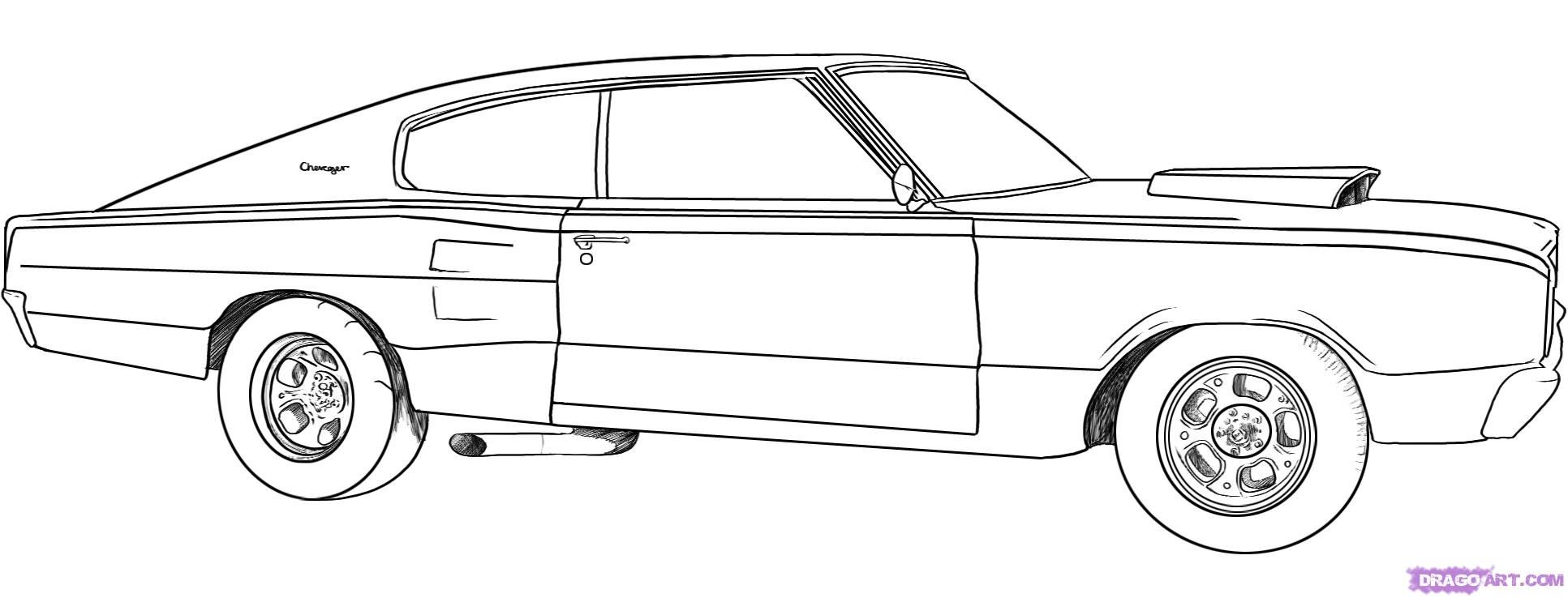 Changller Coloring Pages Dodge Challenger Coloring Page Car