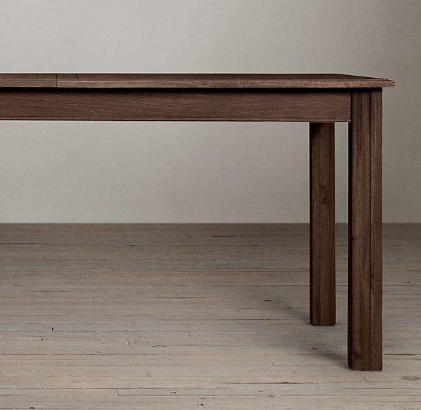 Drifted Oak Parsons Rectangular Extension Dining Table