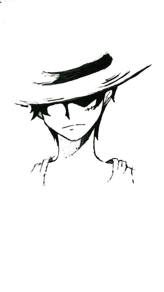Gambar One Piece Hitam Putih Di 2020 Gambar Gambar Anime Lukisan Tubuh