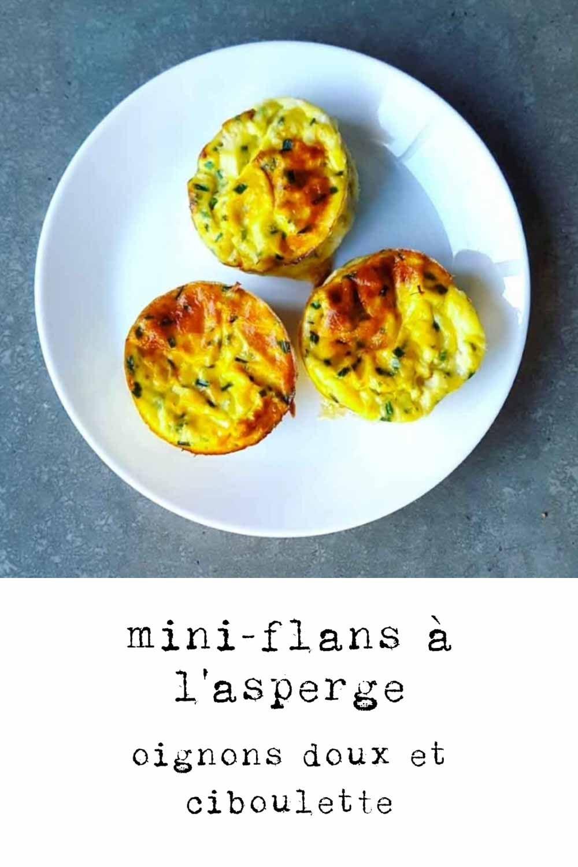Miniflans à l'asperge, oignon doux des Cévennes et