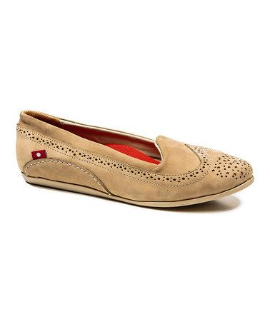 Look what I found on #zulily! Tan Blanca Leather Flat by Oliberté #zulilyfinds