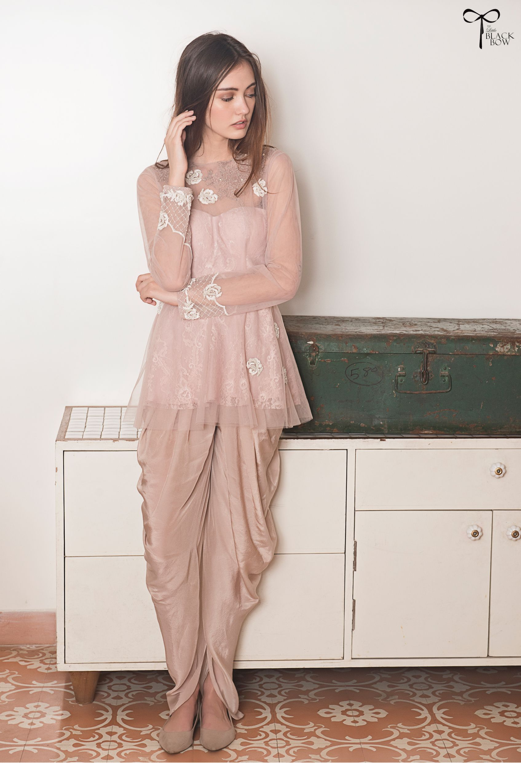 bisouNYC - Vintage Lilac Peplum Top and Dhoti Pants Suit   The Lil ...