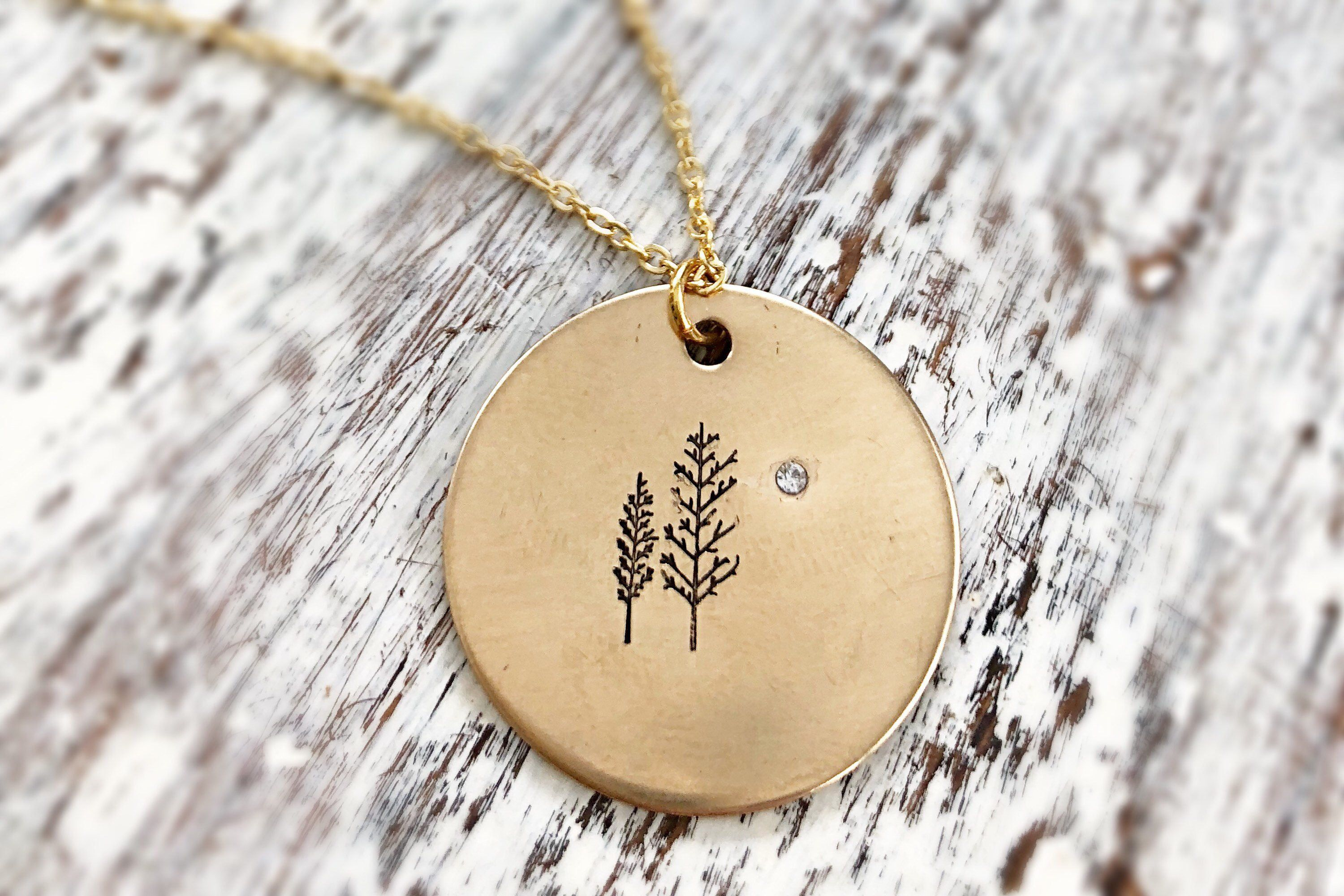 Mentoring necklace gold tree pendant necklace with