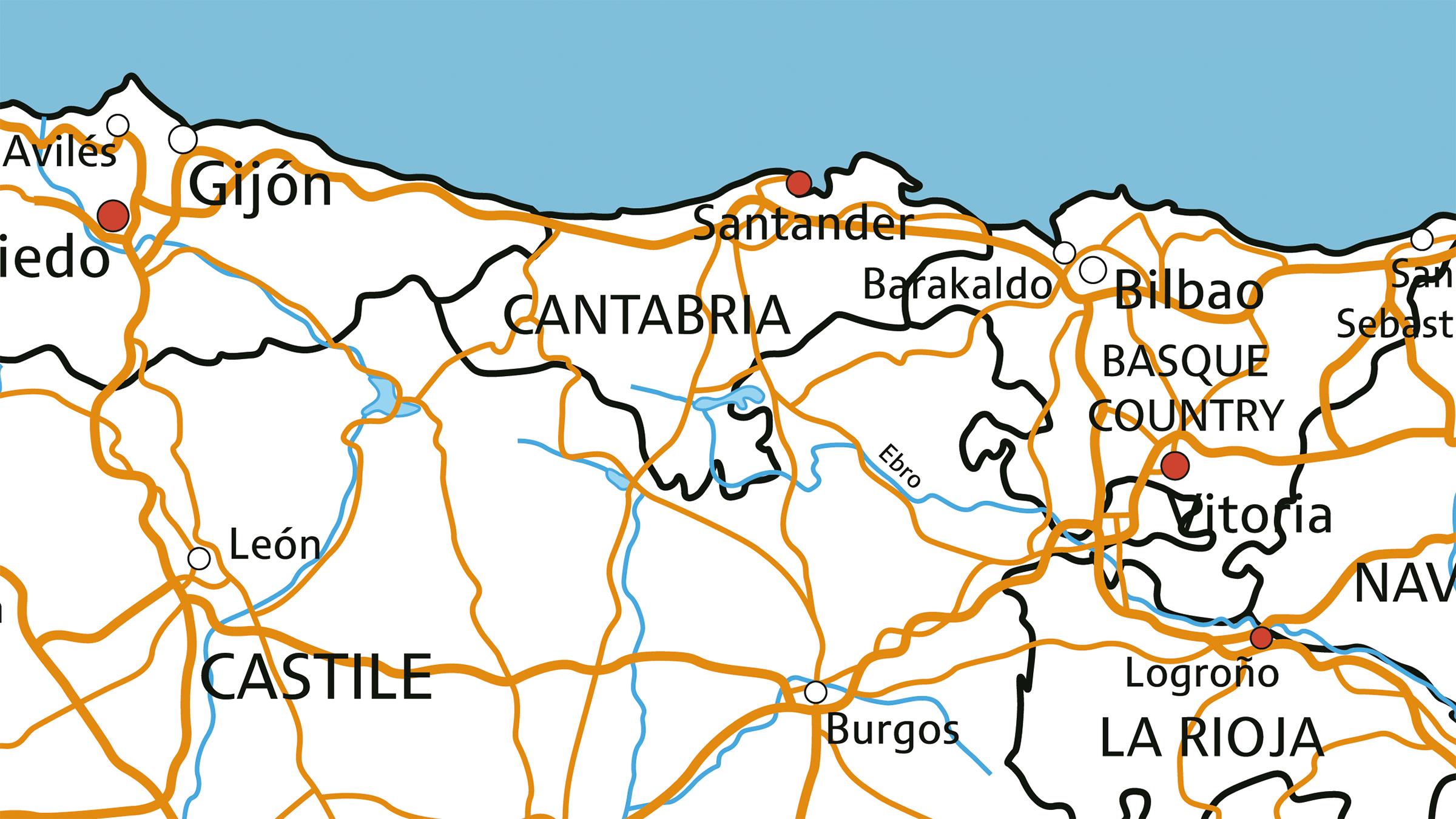 Mapa Asturias Y Cantabria.Mapa De Cantabria Y Asturias Resultados De Yahoo Espana En La Busqueda De Imagenes Mapa De Cantabria Mapas Burgos