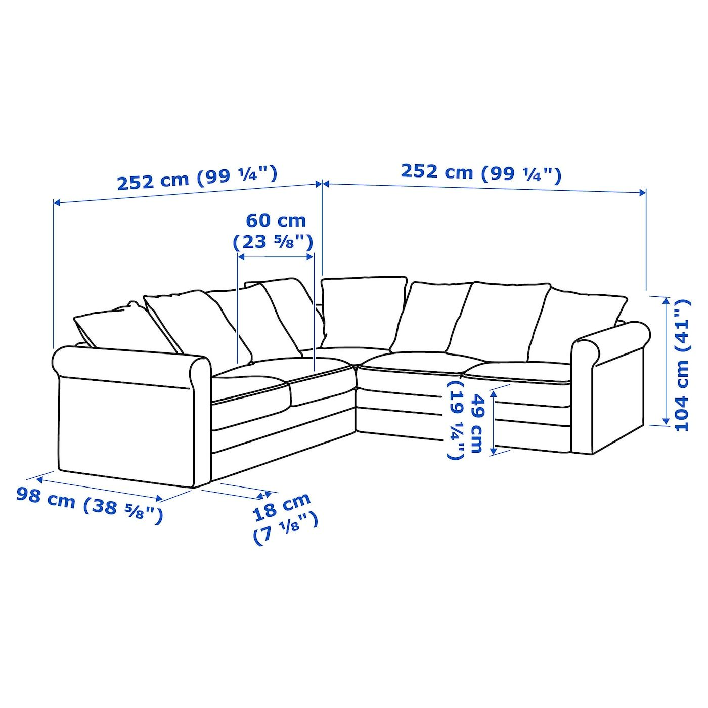 Ikea Gr Ouml Nlid Ecksofa 4 Sitzig Ljungen Hellgr Uuml N In 2020 Ecksofa Ikea Sofa