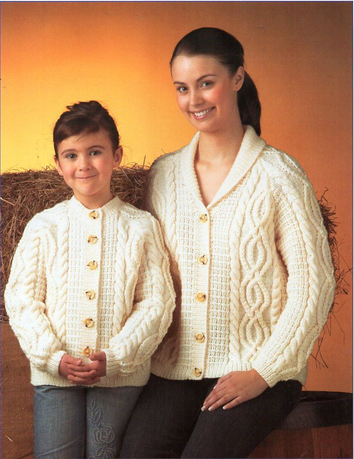 ffdfc4dc2 womens childrens aran cardigans knitting pattern PDF ladies cable jacket  shawl collar round neck 24-46 inch aran worsted 10ply Download by Hobohooks  on Etsy