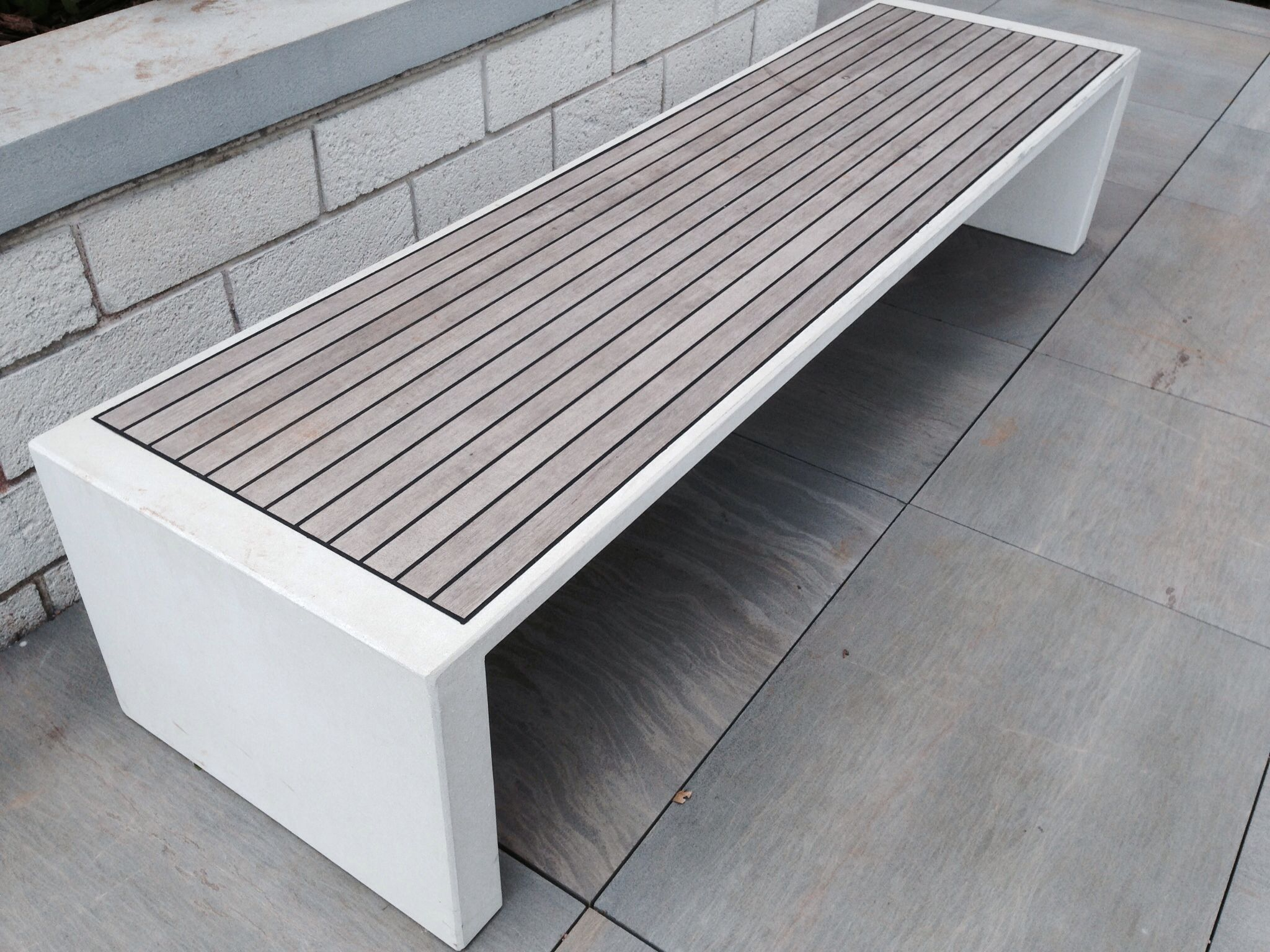 Incredible Modern Outdoor Bench Wood And Concrete Dream House Andrewgaddart Wooden Chair Designs For Living Room Andrewgaddartcom