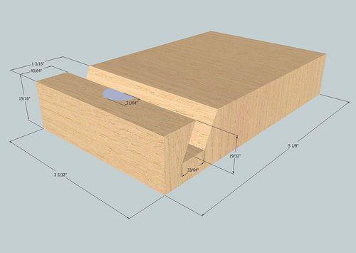 diy wooden 5 ipad dock stand holz handyhalter und st nder. Black Bedroom Furniture Sets. Home Design Ideas