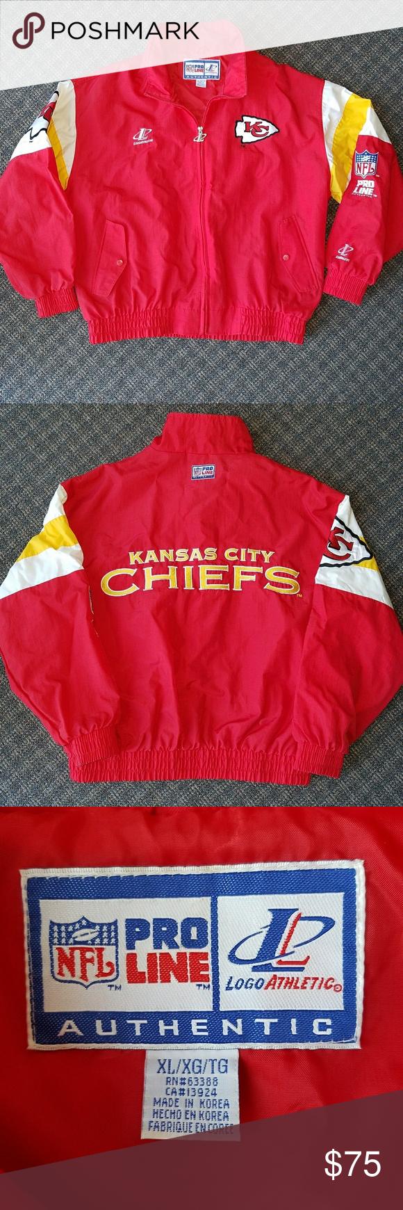 Rare Vtg Kansas City Chiefs Jacket Pro Line 90s Rare Vintage Kansas City Chiefs Jacket Windbreaker Pro Line Nfl Spel Clothes Design Line Jackets Fashion Design [ 1740 x 580 Pixel ]