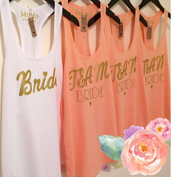 Do you need some cute tanks for your bridal party?? MoMo can help design your own tanks, or you can order our TEAM BRIDE & BRIDE tank! You & your