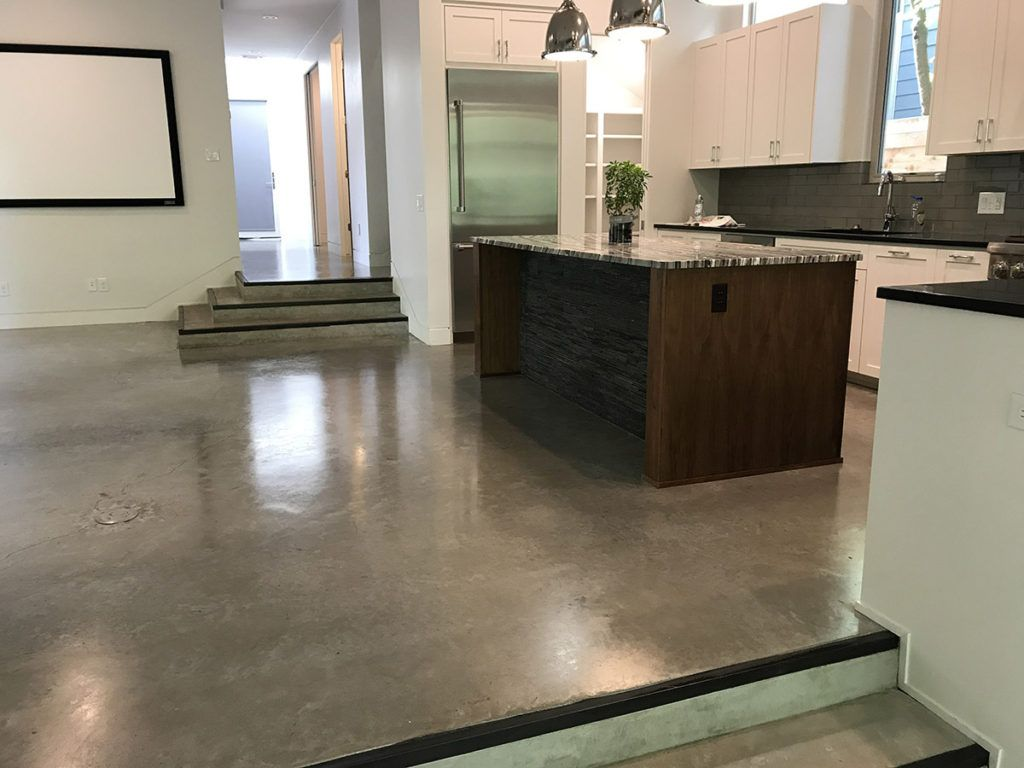 Residential Polished Concrete Floors Andy S Polished Concrete Floors Concrete Polishing Com In 2020 Concrete Floors Diy Stained Concrete Floors Diy Concrete Stain