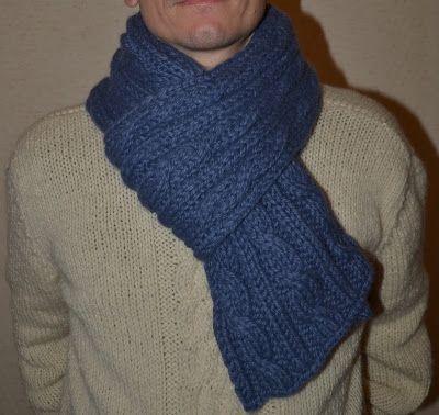 b49697bff12c Comment tricoter une jolie écharpe d hiver pour homme     Des Tricots Très  Mimie