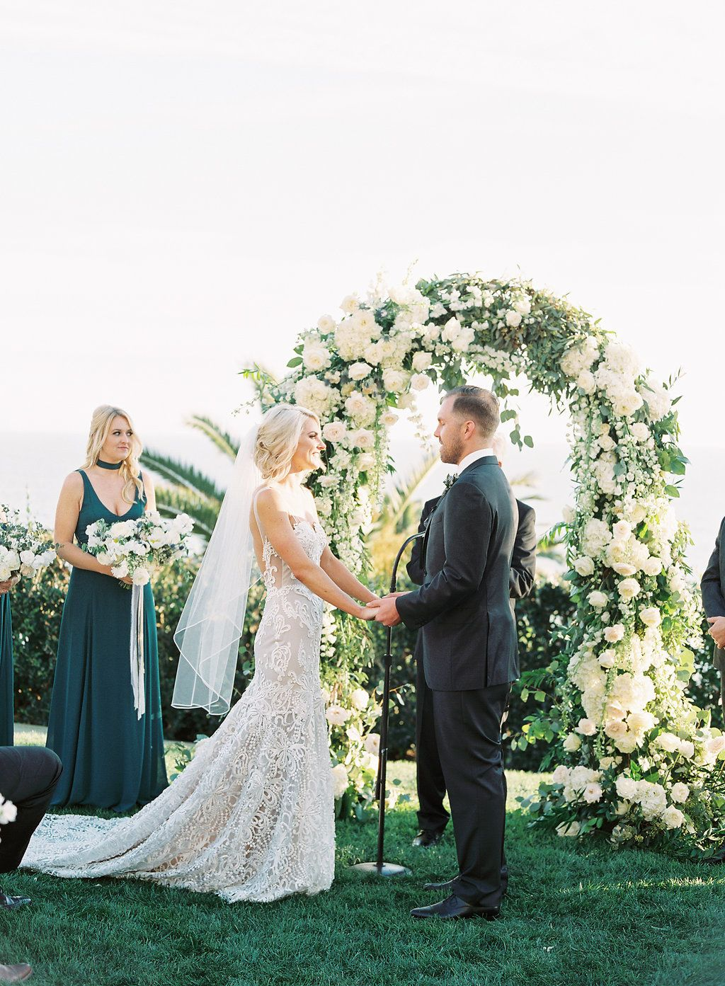 Coastal 'Something Blue' Pacific Palisades Wedding at Bel