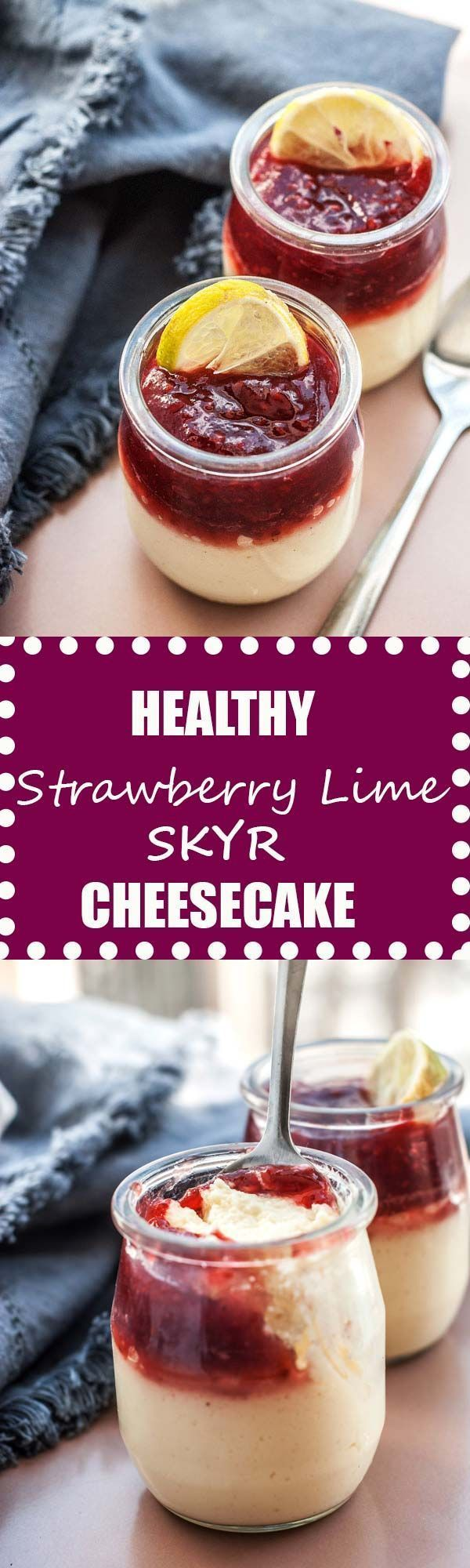 high protein breakfast cheesecake! Made with Skyr (or greek yogurt) and way less sugar but tastes just like light and fluffy cheesecake! Perfect meal prep recipe for make ahead breakfasts all summer long