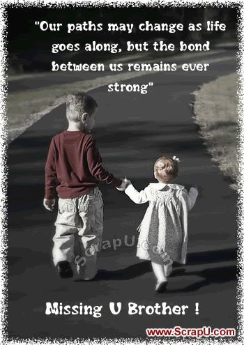Quote Love U Brother Retro Future