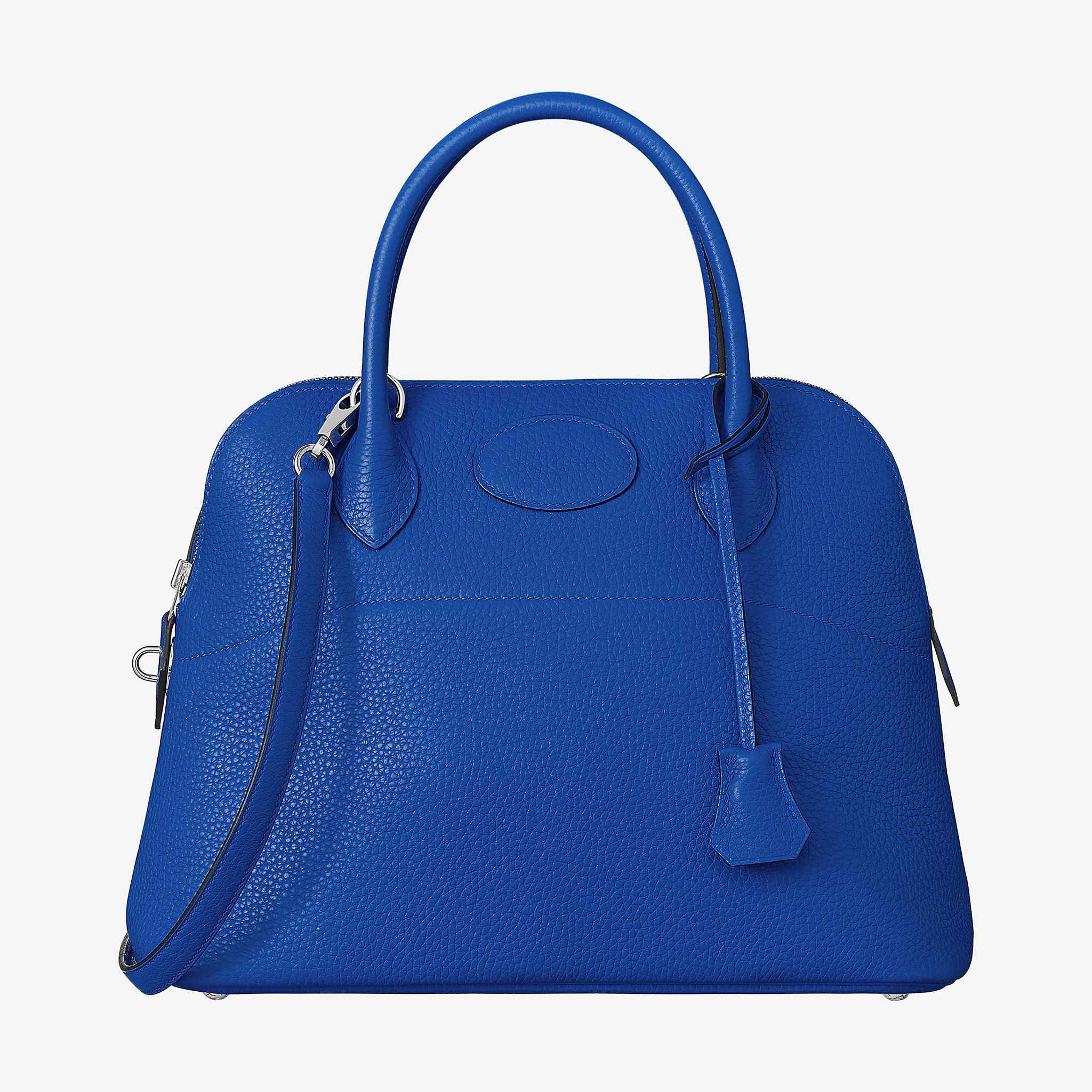 87a52abe87f9 Bolide 31 bag. Hermes bag in taurillon Clemence leather Shoulder strap and  handles Palladium plated hardware blue electrique
