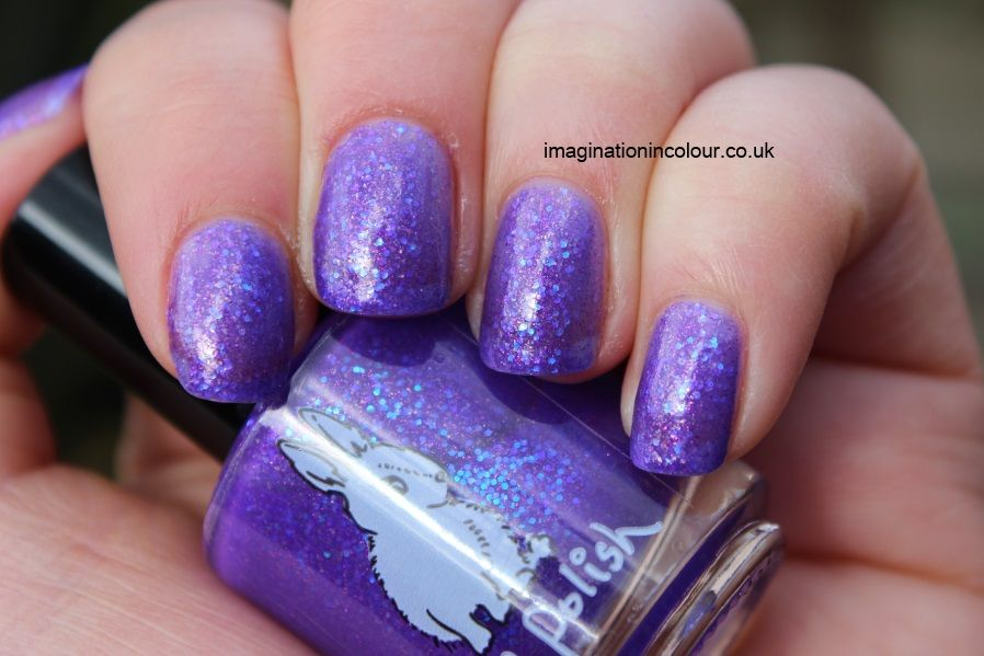 Hare Polish Medusa Luminosa purple glitter iridescent sequins blue ...
