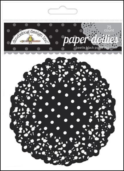 Beetle Black Polka Dot Doilies, 4.5'' | 75 ct