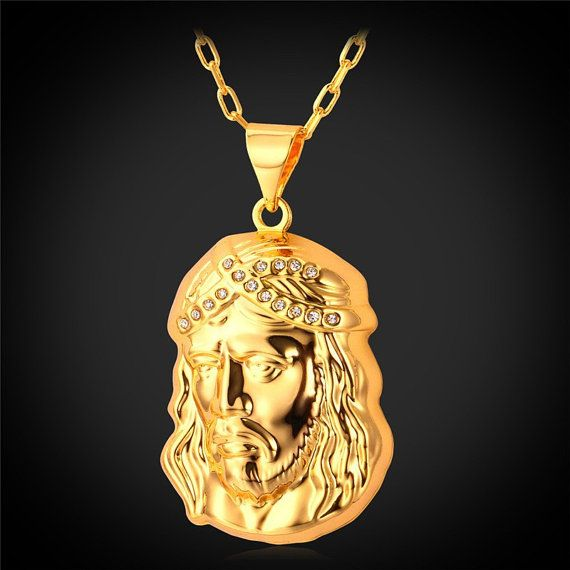 Jesus piece necklaces pendant new mens jewelry jesus women jesus piece necklaces pendant new mens jewelry jesus women necklace gold plated 32342020902 aloadofball Image collections