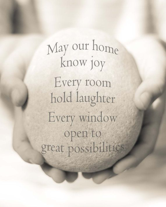 New Home Blessing Quotes House Quote Print Housewarming Happy - New home quotes