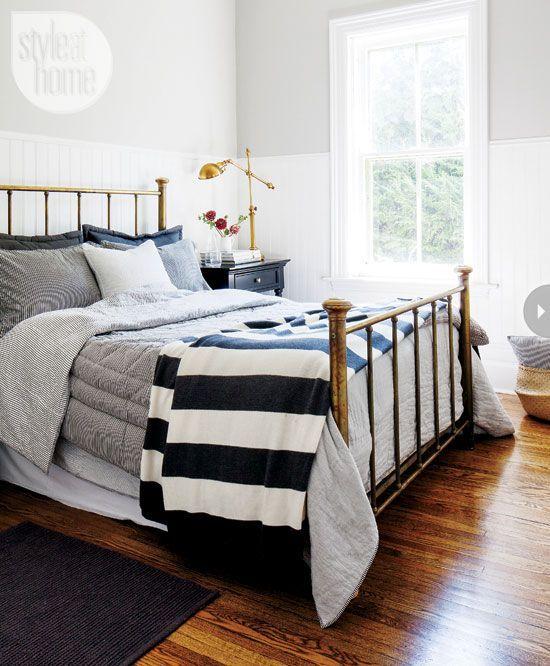 Como Restaurar Y Actualizar Una Cama De Bronce Diseños De Dormitorios Dormitorio Simple Diseño De Dormitorio Gris