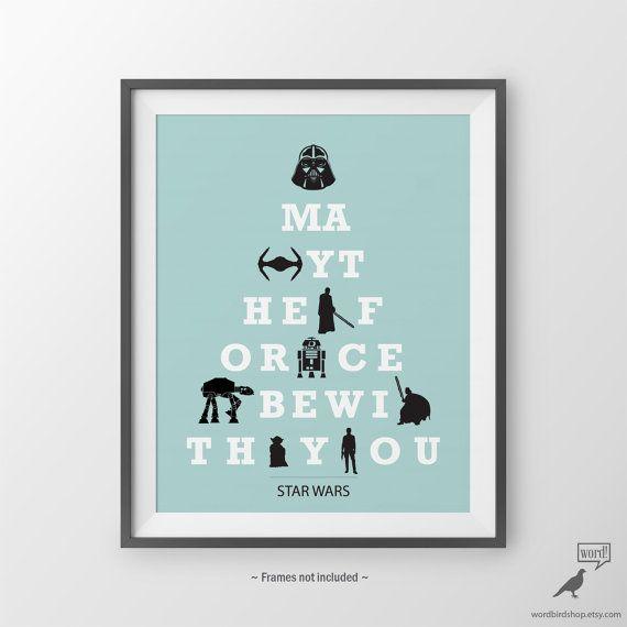 Star Wars Poster cadeau pour petit ami Star Wars Fan Boys Don Room Decor Teen Boy idées de cadeaux pour lui Poster de Darth Vader Star Wars pépinière