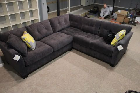 The Knot Your Personal Wedding Planner Grey Sectional Sofa