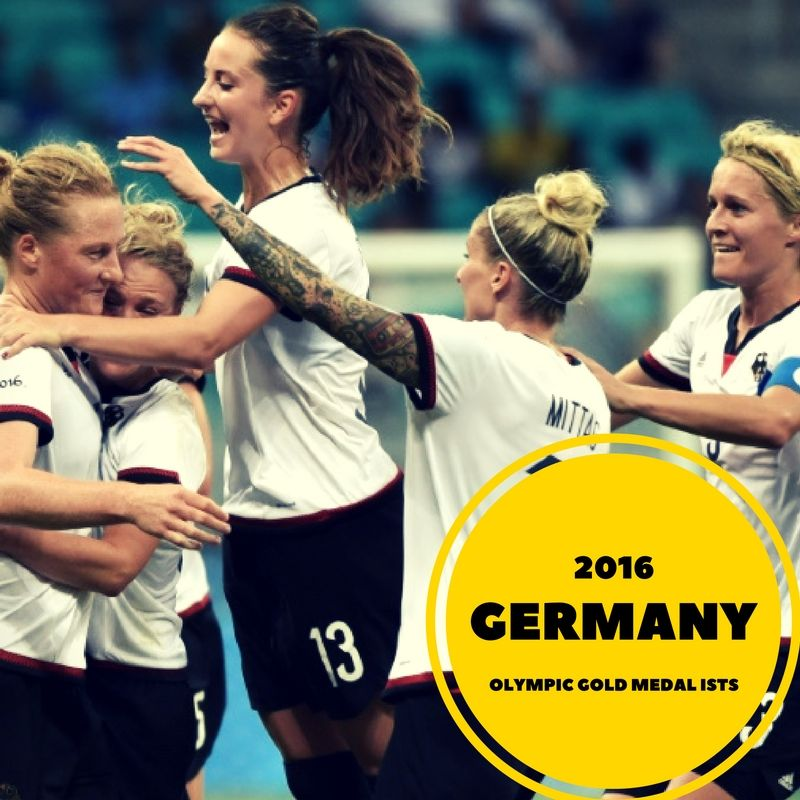 Congratulations to Germany for winning the Gold medal for the Women's soccer!  #rio2016 #olympics