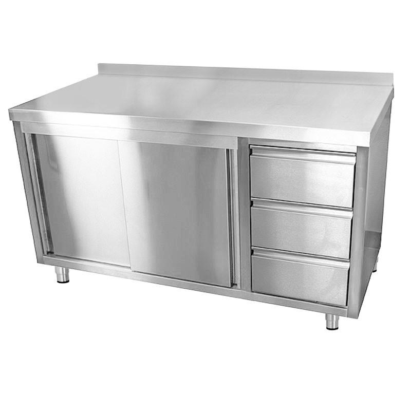 Arbeitsschrank Eco 1 4 M Mit 3 Schubladen Rechts Und Aufkantung In 2020 Outdoor Storage Box Outdoor Storage Outdoor Furniture