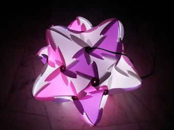 Pin By Yulya Tretyak On Lampy Puzzle Lights Infinity Lights Paper Christmas Ornaments