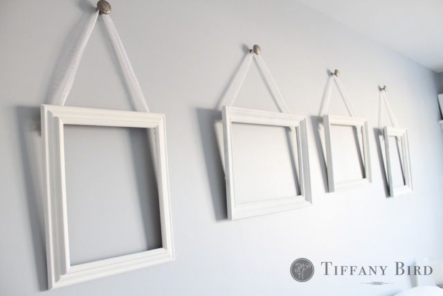 Tutorial For Mounting S In A Wall Hang Frames Jewelry Or String Clothesline To Papers Art With Clothespins