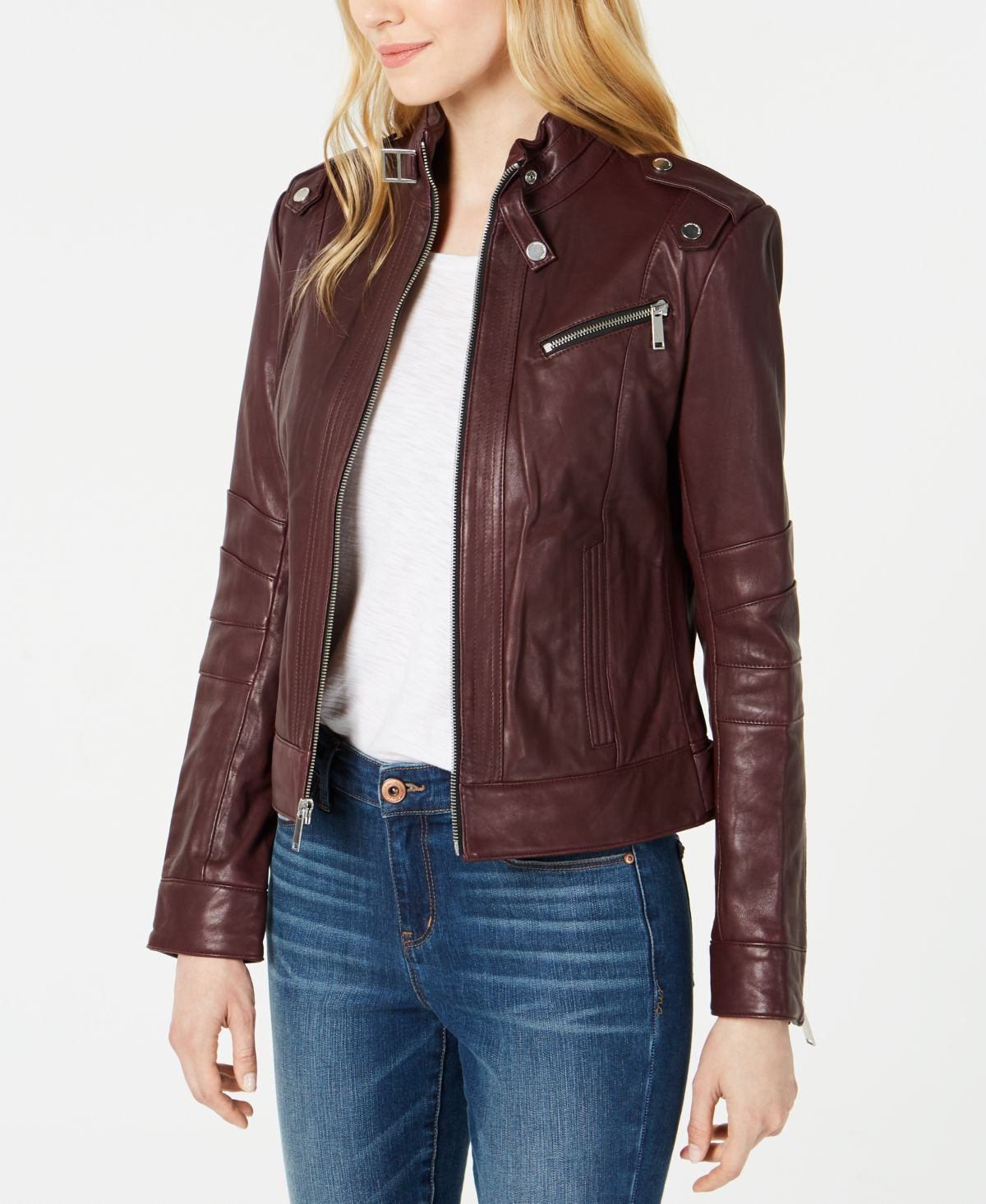 Marc New York FrontZip Leather Moto Jacket & Reviews