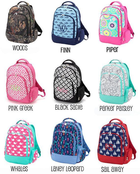 monogrammed backpack girls backpack
