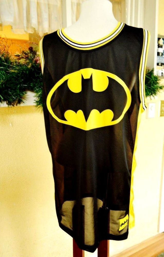 a540373baaf Batman Mens XL 46 48 Basketball Jersey Tank DC Comics Black Yellow Bat  Signal | Clothing, Shoes & Accessories, Men's Clothing, Shorts | eBay!