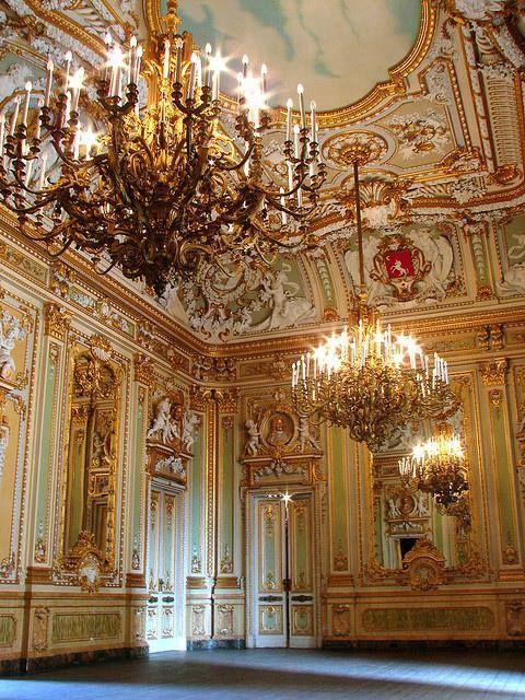 The Ballroom at Palazzo Parisio, Naxxar, Malta   Rococo ...