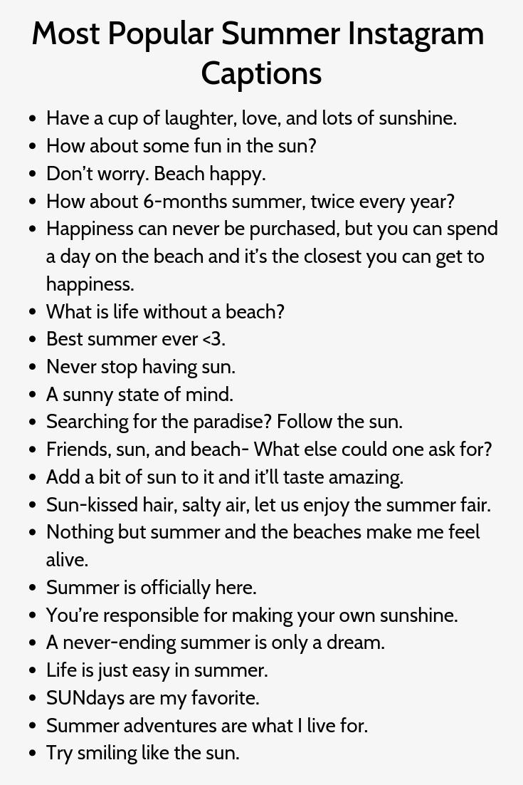 Instagram Captions For Summer Funny Instagram Captions Instagram Quotes Captions Summer Instagram Captions