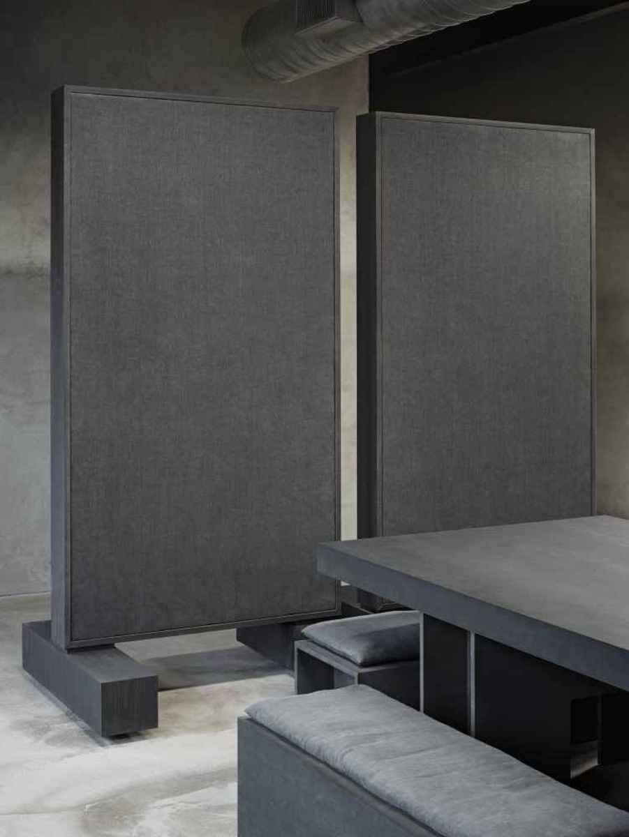 Kanye West S Minimalist Yeezy Studio In Calabasas California Kanye West Long Sofa Furniture